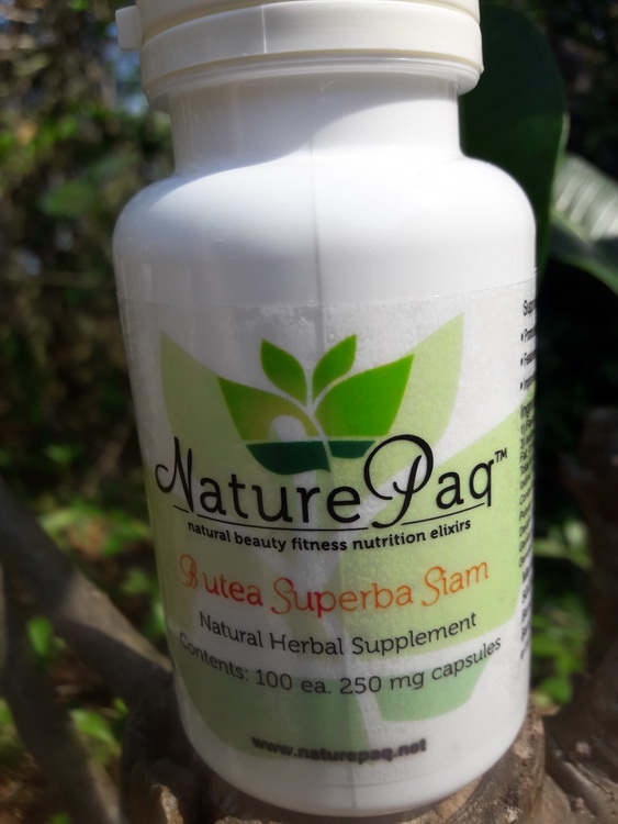 Naturepaq brand organically cultivated Butea superba