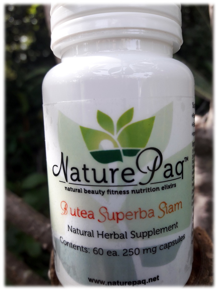 organically cultivated Naturepaq Butea superba capsules 60 each 250 mg